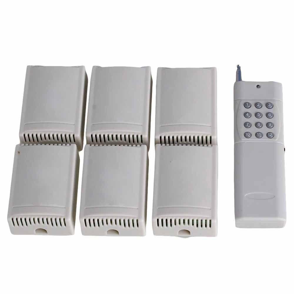 220V 433MHZ 2CH Home Alertor Self-lock Remote Control Switch 12 Buttons220V 433MHZ 2CH Home Alertor Self-lock Remote Control Switch 12 Buttons
