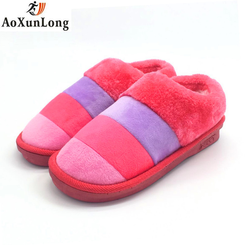 Winter Women Slippers Warm Plush Pack With Casual Shoes Women Slide Flat Shoes 3 Colors Home Warm Women's Slippers Size 36-41 9 fongimic comfortable women slippers women casual indoor plush shoes autumn winter warm fashion slippers hot sale flat slippers