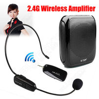 Free Shipping T600 Portable PA Voice Amplifier W 2 4G Wireless Microphone Fr Teaching Guiding