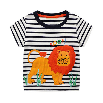 VIDMID 2-7Years Children baby boys Kids Boys T-Shirt Cotton Cartoon animals Baby Boys Short Sleeve t-Shirts Summer clothing W02 4