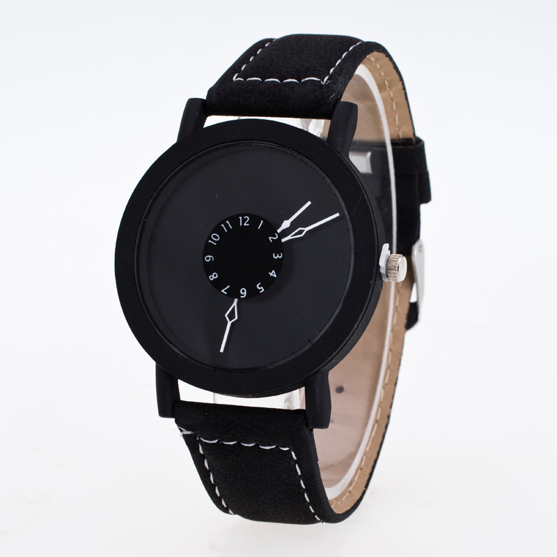 New Fashion Creative Watches Women Men Quartz Watch 2019 Brand Unique Dial Design Couples Watch Leather Wristwatches Clock Gifts