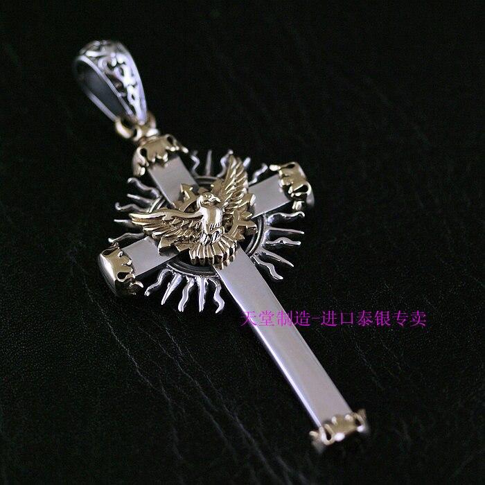 Здесь можно купить  925 Sterling Silver new genuine new silver-copper mash dove Christian Cross Pendant  Ювелирные изделия и часы
