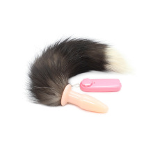 Vibrating Anal Fox Tail Butt Plug