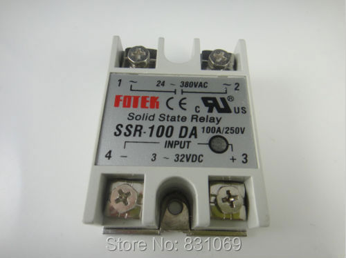 цена на 3Pieces/Lot  Solid State Relay SSR-100DA 100A /250V 3-32VDC/24-380VAC Brand New