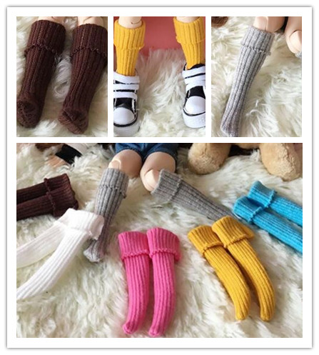 1 Pairs Candy Color Blyth Stocking For Azone Barbies, Momoko 1/6 Doll Clothes Socks Accessories Azone Blyth Socks Girls Toy