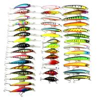 43pcs/box 6 Kinds Hard Fishing Lures Set Minnow Wobbler Crankbait Artificial Baits for Carp Fishing Accessories