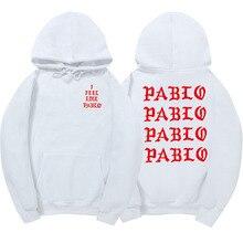 Я чувствую Paul Пабло Канье Уэст пот Homme толстовки Мужчины Толстовка Толстовки хип-хоп Уличная Толстовка Pablo Толстовка