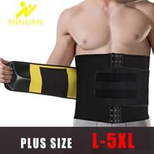NINGMI Plus Size Males Modeling Belt Slimming Waist Trainer Body Shaper Corset Neoprene Slim Tummy Trimmer Shapewear Strap L 5XL