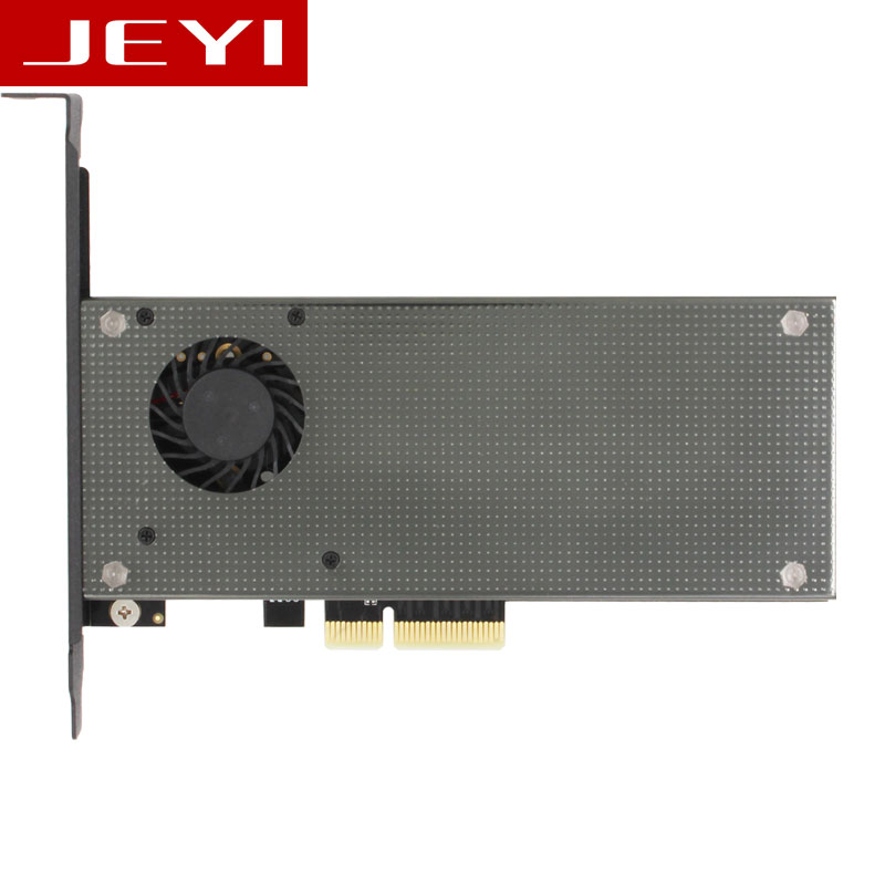 JEYI SK8 m.2 expansion NVMe adapter NGFF turn PCIE3.0 cooling fan SSD dual interface SATA3 with fan Aluminum cover capacitance