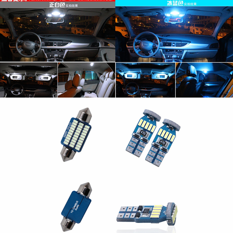 цена на 15pc Canbus Dome Map Door Trunk Interior Light Led Bulb Package Kit for MINI Cooper R56 2006-2013 white ice blue