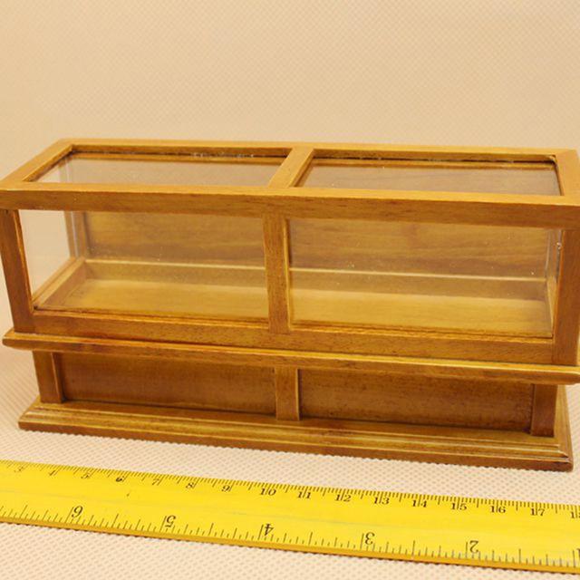 1 unid Mini Modelo Muebles de Nogal Color Vitrina Pastel 1:12 ...