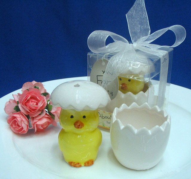 Free shipping easter sunday party favors egg baby chick salt free shipping easter sunday party favors egg baby chick salt pepper shaker wedding gifts favor negle Image collections