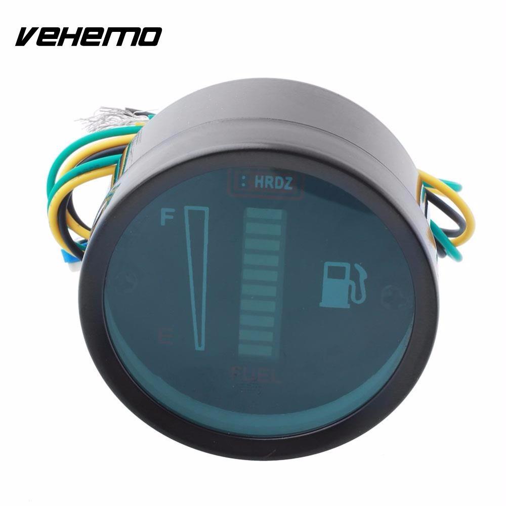 Vehemo Vehwmo Universal Car Motor 2 52mm Fuel Meter Led Digital Doorphone Intercom By Ic Lm386 Display 12v System Gauge