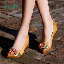 Fashion female shoes spring autumn women pumps pointed-toe flower platform women casual shoes low heel