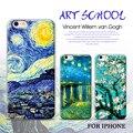Vincent van gogh ngansek casos para apple iphone 7 plus 7 6 plus 6 6 s 5S 5 girasol pintura al óleo cielo estrellado noche van gogh case