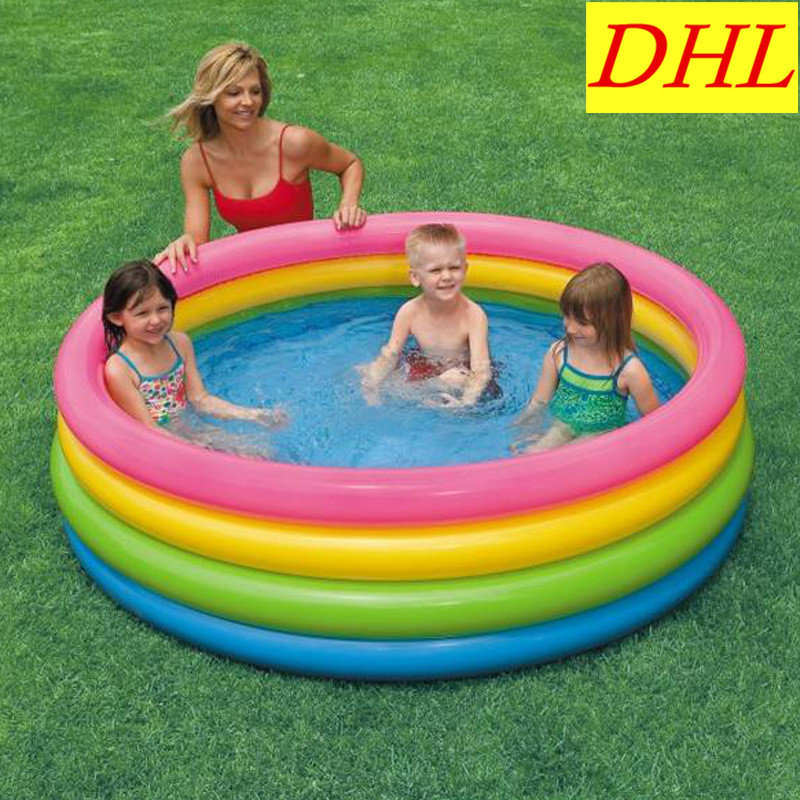 Inflatable Swimming Pool Outdoor WATER PARK Sunbathe Fluorescence Tetracycline Circle Bath Tub Life Buoy Sea Party Pool L1889 orange inflatable airbag swimming upset buoy outdoor safety swim device upset inflated flotation pool open water sea lifesaving
