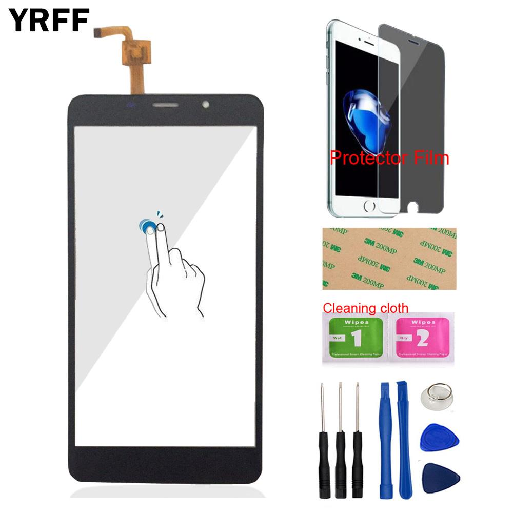 YRFF 5.7inch Phone Touch Screen Front For <font><b>Leagoo</b></font> <font><b>M8</b></font> For <font><b>Leagoo</b></font> <font><b>M8</b></font> <font><b>Pro</b></font> Touch Digitizer Panel Glass Free Protector Film Adhesive image