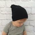 Inverno quente sólidos chapéus recém-nascidos do bebê da criança de lã de malha cap gorros unisex meninos meninas chapéus caps crochet do bebê macia acessórios