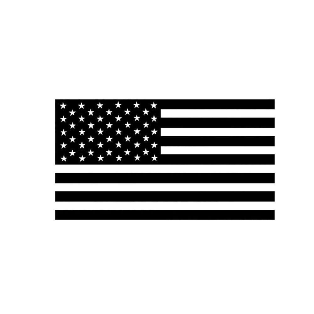 Виниловая Автомобильная наклейка с флагом США, 5 шт., черно-белая полоска