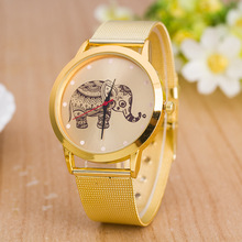 2019 New Fashion elephant Alloy watches Women Luxury Brand JW gold Stainless steel Dress Sport Wristwatches Clock Quartz Watch