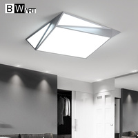 BWART Surface Mounted new Modern Led Ceiling Lights lamparas de techo Rectangle bedroom Square Ceiling lamp fixtures