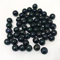 7-8mm AA+ Half Drilled Black Natural Round Loose Pearl Beads,Sold by Piece