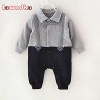 Newborn Baby Rompers Clothes Cotton Suits Infant Jumpsuit Outwear Gentleman Baby Boys Jumpsuit Clothing