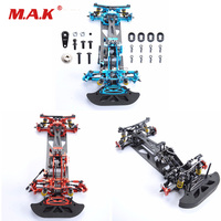 Red/Blue/Black 1/10 RC Racing Car Accessories Alloy Carbon 4WD Drift Model Car Drive Shft Frame Kit Chassis G4 For Electric Car