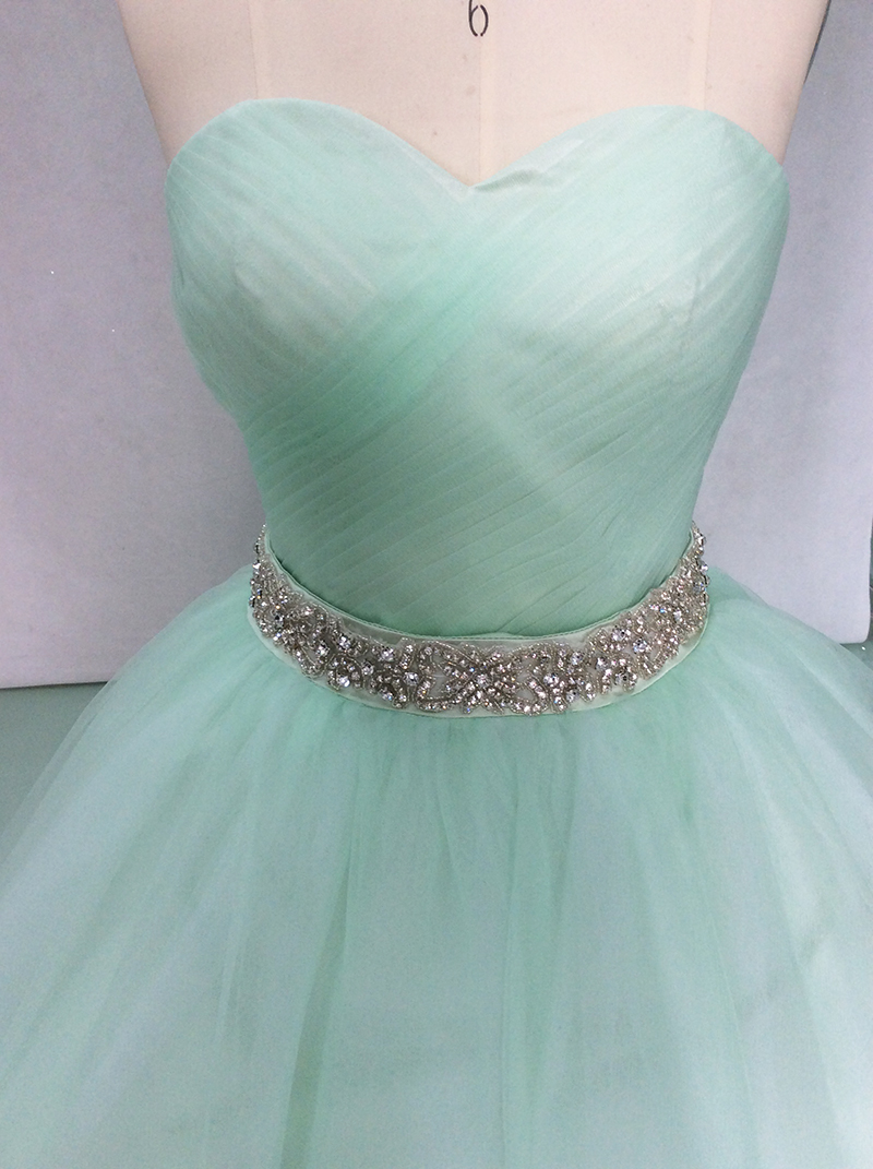 2018 Quinceanera Dresses Ball Gown Sweetheart Beaded Crystal Tulle Puffy Long Prom Dress Sweet 16 Dresses Vestidos De 15 Anos