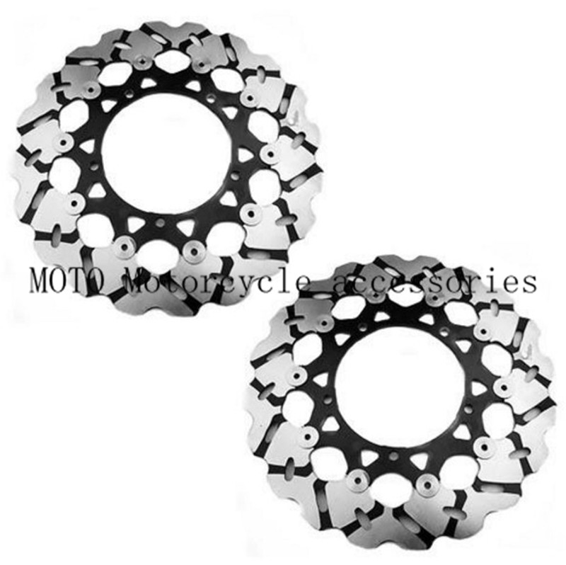 1 Pair Motorcycle Bike Front Brake Disc Rotor For YAMAHA FZ1 1000 2006 2007 2008 2009 Front Motorbike Brake Disc