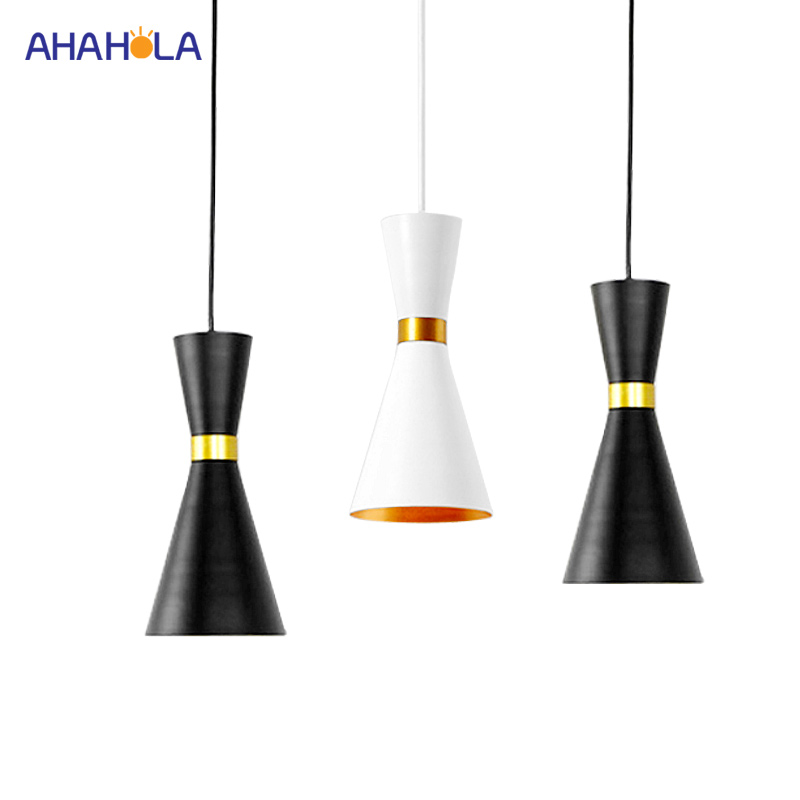 Nordic Pendant Lamps Modern Hanging Lights Led Lighting Fixtures White Black Pendant Light Iron Nordic Lampshape Loft Home Deco nordic pendant lights european pendant lighting fixture home indoor lighting american country hanging lamps aluminum drop light