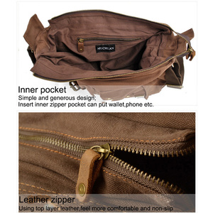Image 5 - Luxury Cowboy Genuine Camera Bag Oilskin Leather Single Waterproof Shoulder Bags Canvas Bag Inner Tank SLR Camera Messenger Bags