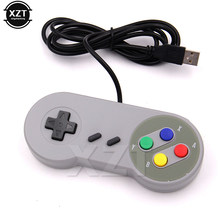 1pcs Wired Super USB Controller Gamepad Joysticks Retro Classic Snes usb PC Gamepad Joystick for MAC os Joypad new(China)