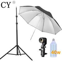 Lightupfoto 110v Photo Studio Lighting Kit Light Stand Umbrella Bulb Socket Studio Continuous Lighting Kits Hot