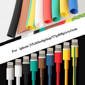 Image 1 - 1 متر كابل حامي الحرارة يتقلص أنبوب المنظم الحبل إدارة غطاء ل أندرويد آيفون 5 5s 6 6s 7 7p 8 8p xs سماعة MP3 USB