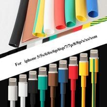 1M kabel Protector rura termokurczliwa organizator przewód zarządzania pokrywa dla androida iPhone 5 5s 6 6s 7 7p 8 8p xs słuchawki MP3 USB