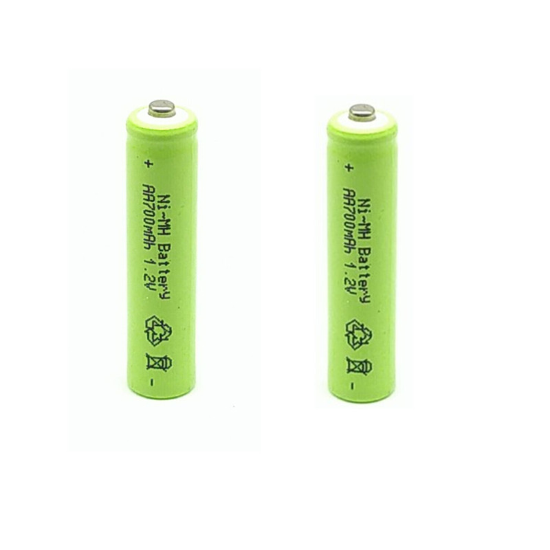2pcs/Lot <font><b>AAA</b></font> 1.2V 700mAh Ni-MH Rechargeable Battery image
