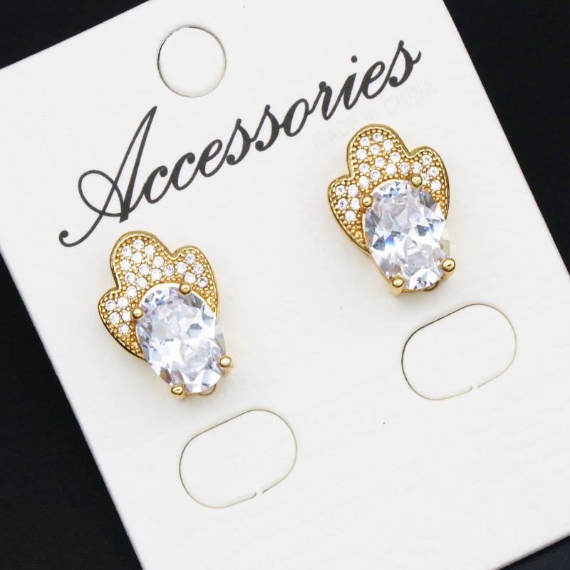 Top Quality Geometric Gold Color Earring Fashion Jewelry Austrian Crystal Wholesale women Gifts