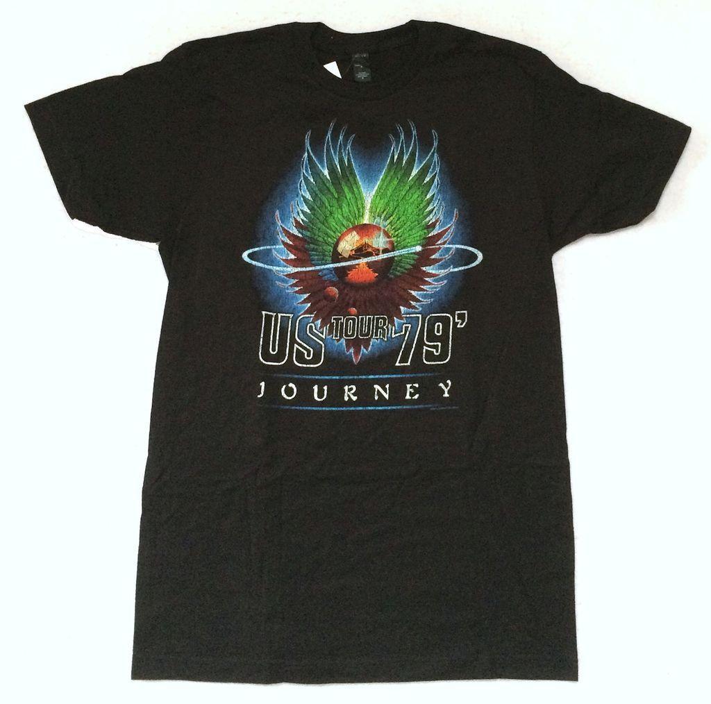 Gildan Journey US Tour 1979 Black T Shirt New Official Reissue Merch