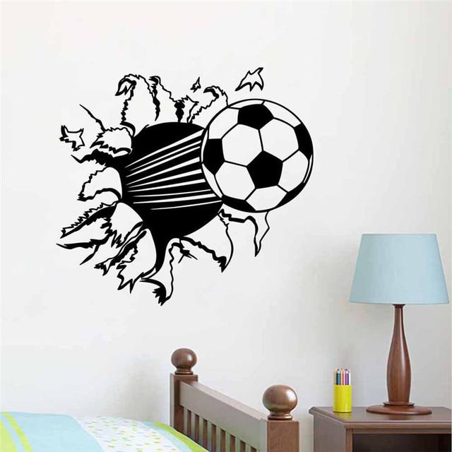 Wand Muster kreative wohnkultur 3d wandaufkleber football gebrochen wand muster