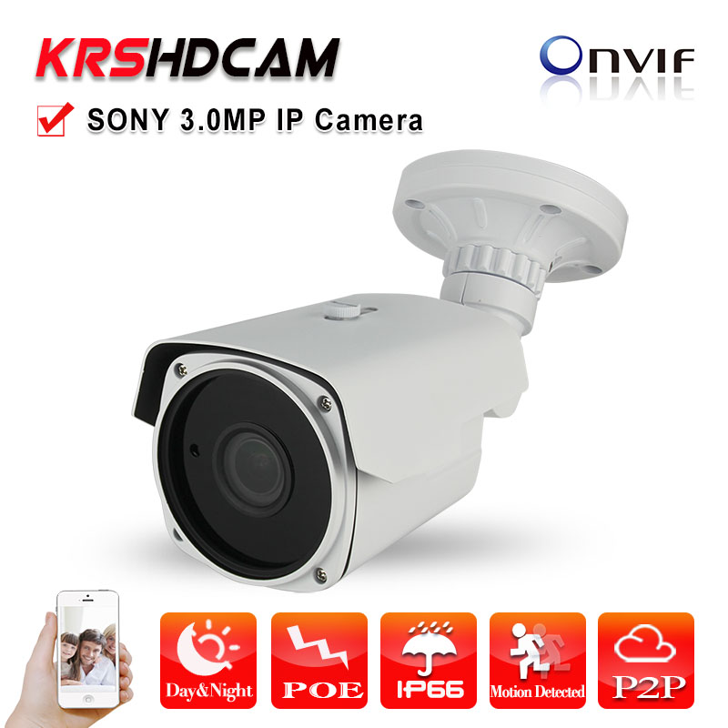3.0MP Camera IP Full HD 1080P POE SONY Sensor onvif2.4 2.8-12mm Zoom Outdoor waterproof Security cctv Cameras p2p Night Vision ip camera poe 1080p outdoor full hd 2mp poe sony low illumination bullet ip camera security p2p onvif zoom lens poe cctv camera