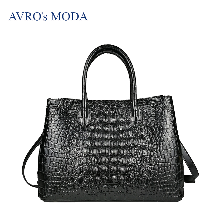 new Women Genuine leather Crocodile Pattern Bag Leather Women Handbag Hot Selling Tote Women Bag Bags Luxury yuanyu 2018 new hot freeshipping crocodile handbag thai crocodile leather women bag women trapeze bag authentic wings packag