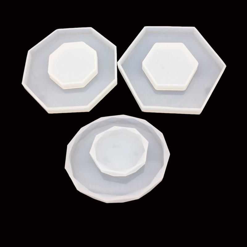 1 Stück Diamant Octagon Form Silikon Form Diy Uv Harz Epoxy Form Dekoration Fudge Werkzeug Backen Utensilien Schmuck Form