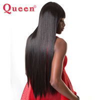 Queen Hair Products Indian Straight Human Hair Weave 1 Bundle Hair Extensions 100% Remy Hair 3 Bundles For a Full Head