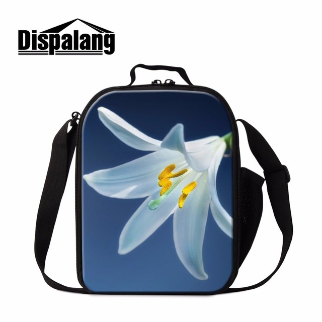 Dispalang Flower 3d Printed Personal Lunch Bag For S Small Messenger Travel Coolers Women Pretty