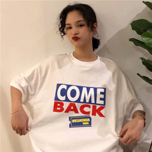 2019 new Cotton Couple clothes Womens t-shirt Modis Japanese Harajuku street personality letter Oversized Tees
