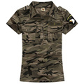 Military Uniform Army Green Cotton T-Shirts Women's short sleeve summer Camouflage T shirt Casual Tops