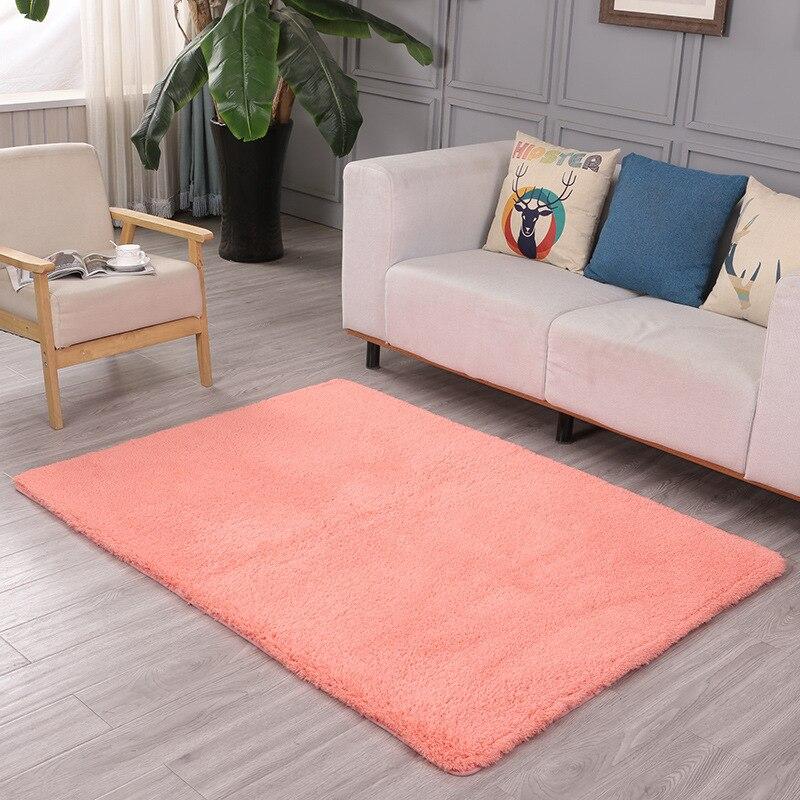 New Arrival creative lambskin carpet thick absorbent mat Rectangular bedroom non-slip rug tatami wool carpet bedside blanket(China)
