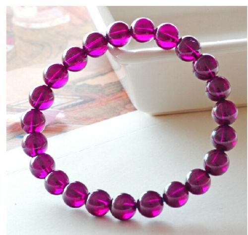 Free shipping 435 genuine natural garnet granatus red bracelet round worry mala bead