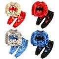 Kids Tracksuit New Design 2016 Boys Clothes Set Character Batman Print Full Sleeve Top+Pant Sets Children Clothing Set For 2-5T